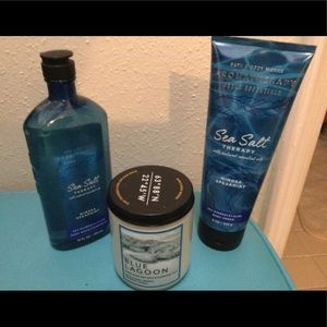 BBW two bath products and  scented candle